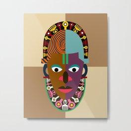 Festac 77 Mask Metal Print