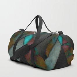 """""""Grunge metal pattern"""" Duffle Bag"""