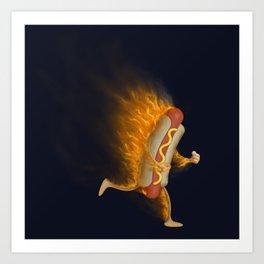 Flamin' Hot Dog Art Print
