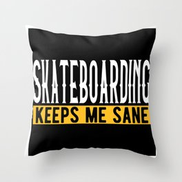 Skateboarding Lovers Gift Idea Design Motif Throw Pillow