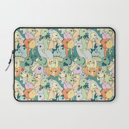 Cute Dino Pattern Laptop Sleeve
