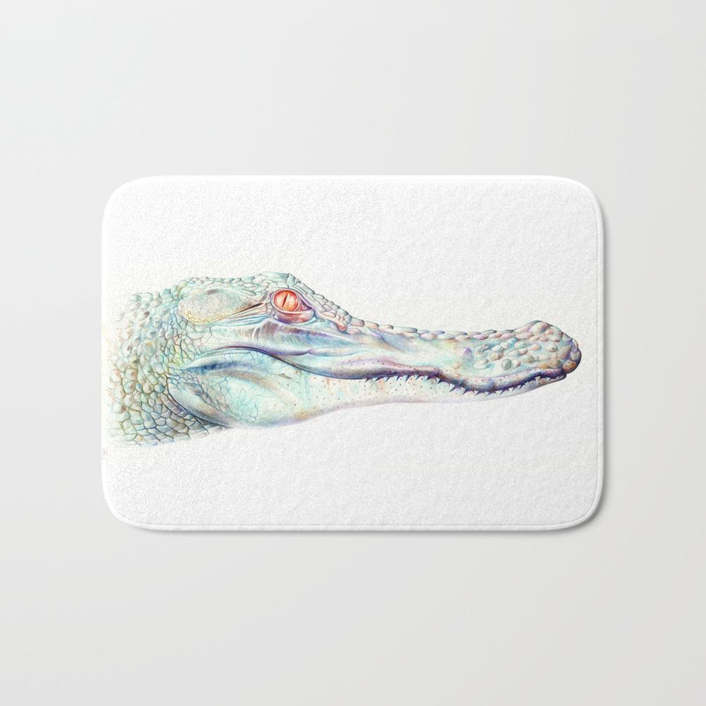 Albino Alligator Bath Mat by Brandonkeehner BMT4311143