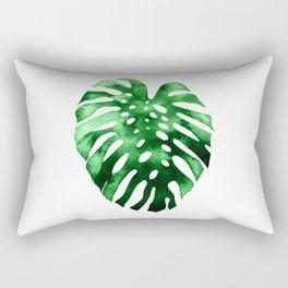 Monstera (Green) Rectangular Pillow