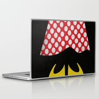 minnie mouse Laptop & iPad Skins featuring minnie mouse minimal grunge... by studiomarshallarts