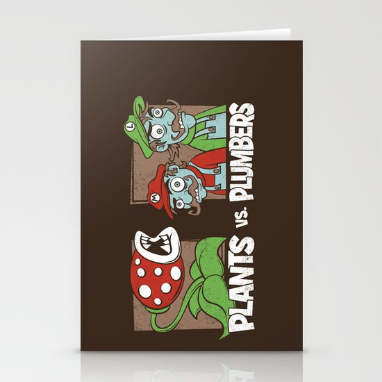 Plants Vs Plumbers  Stationery Cards