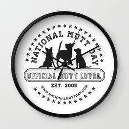 National Mutt Day Official Logo Wall Clock
