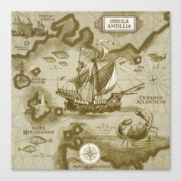 Insula Antillia Canvas Print