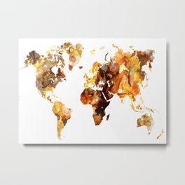 Design 102 World Map Metal Print
