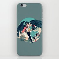 calcifer iPhone & iPod Skins featuring Fly Away With Me by Nikittysan