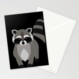 Raccoon in the Night Stationery Cards