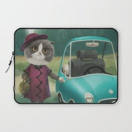 Where are you going kitty? Laptop Sleeve