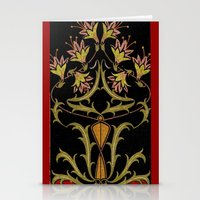 art nouveau Stationery Cards featuring art nouveau by Ariadne