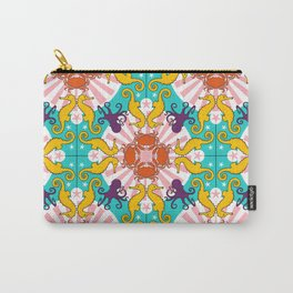 Kaleidoscopic Ocean Animals Carry-All Pouch