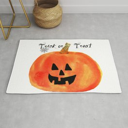 Trick or Treat Jack-O-Lantern, Halloween Pumpkin Rug