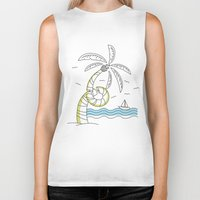 coachella Biker Tanks featuring Palm Tree by Tuylek