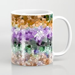 Mosaic Layered Flower Garden Coffee Mug