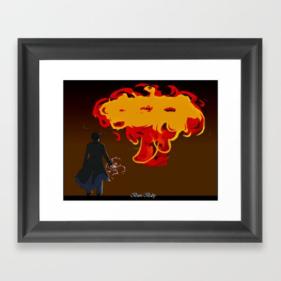 Burn Baby Framed Art Print