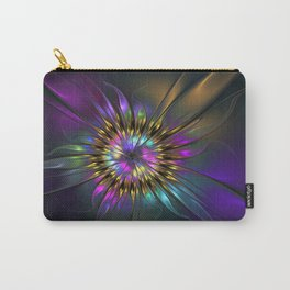Fantasy Flower Fractal Carry-All Pouch