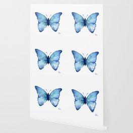 Blue Butterfly Watercolor Wallpaper