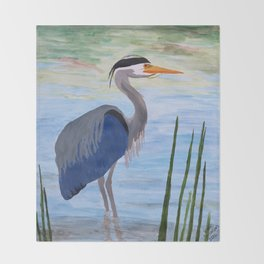 Heron Shore Throw Blanket