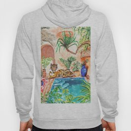 Tiger by the pool Hoody