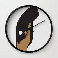 doberman Wall Clocks featuring DOBERMAN PINSCHER by Ang Gispert