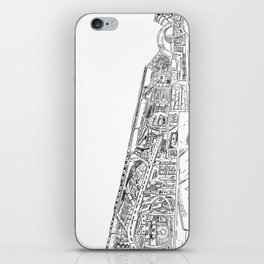 The tower of Disaster iPhone Skin