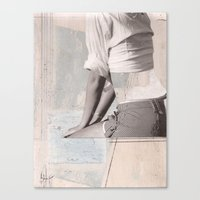 booty Canvas Prints featuring BOOTY by dara dean