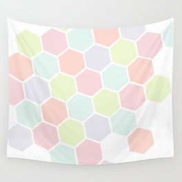 Pastel Buzz Wall Tapestry