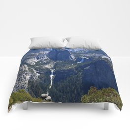 Vernal Falls And Nevada Falls Comforters