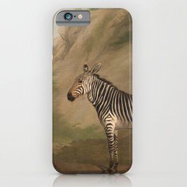 Zebra Painting, Jacques-Laurent Agasse iPhone Case