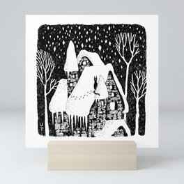 Snow House Mini Art Print