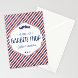 Mr. Moustache Barber Shop Stationery Cards