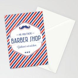 Mr. Moustache Barber Shop Stationery Cards