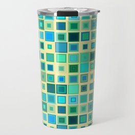 Squares Pattern Travel Mug