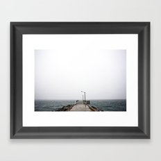 Foggy Coast Framed Art Print