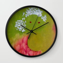 """Lili"" Original oil finger painting by Monika Toth Wall Clock"