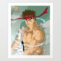 street fighter Art Prints featuring Fighter by Neokoi