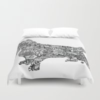 terrier Duvet Covers featuring Terrier by PawPrints