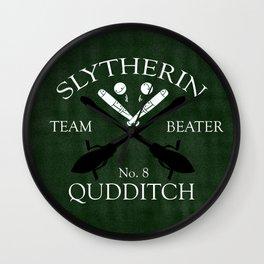 Slytherin Team Beater Wall Clock