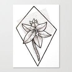 Flower dots Canvas Print