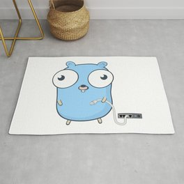 Golang - gopher wizard Rug