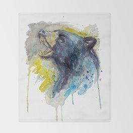 Black Bear Head Throw Blanket