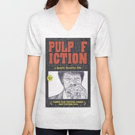 PULP FICTION hand drawn movie poster in pencil Unisex V-Neck