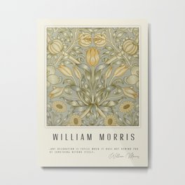 Modern poster-William Morris-Vegetable print 3. Metal Print