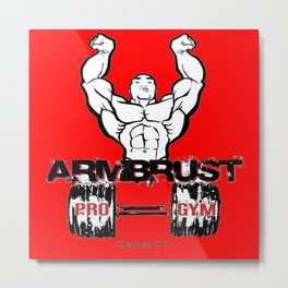 ARM BRUST PRO GYM Metal Print