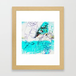 There's a Bluebird in My Art (Ode to Los Angeles, home of Charles Bukowski)... Framed Art Print
