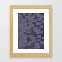 Purple Dash Framed Art Print