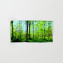 Sky Blue Morning Forest Hand & Bath Towel