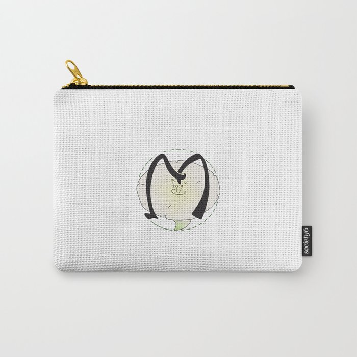 Rubys Flower Initials - M Carry-All Pouch